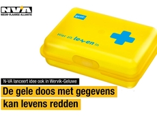 Gele doos kan levens redden