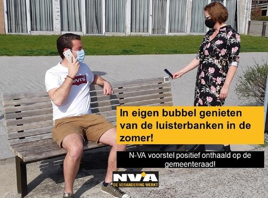 Voorstel N-VA op de gemeenteraad - Luisterbanken