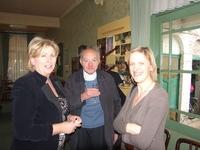 Belinda in gesprek met Anny en Michel